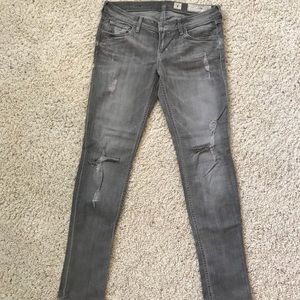 All Saints ripped grey jeans size 28